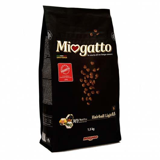 Фото упаковки сухого корма Miogatto Hairball 0.5 старого образца