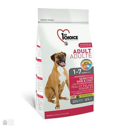 корм для взрослых собак с чувствительным пищеварением 1st Choice Adult Sensitive Lamb & Fish