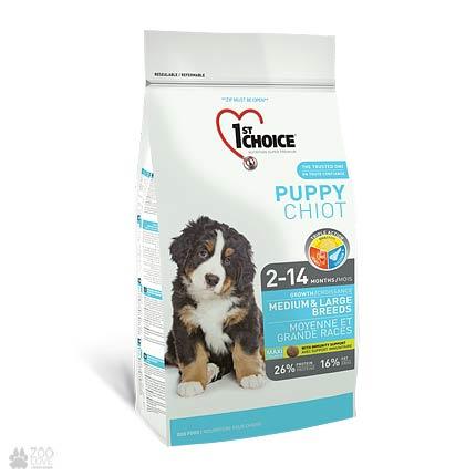 корм для щенков средних и крупных пород 1st Choice Puppy Medium & Large Chicken