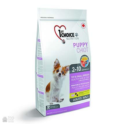 корм для щенков мини и малых пород 1st Choice Puppy Toy & Small Lamb & Fish
