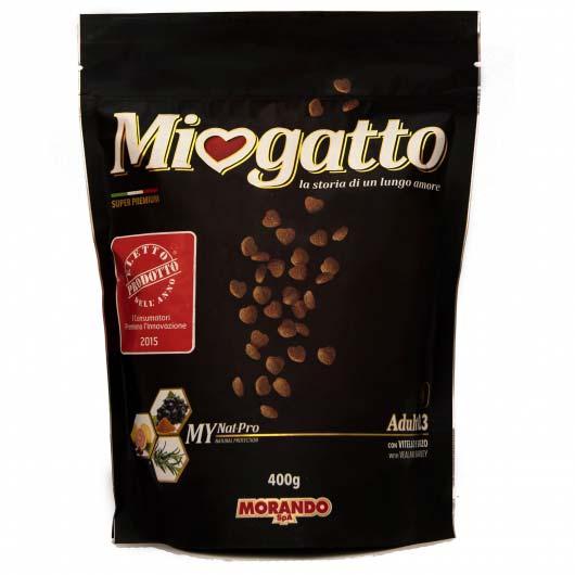 Сухой корм Morando Miogatto Veal 0.3 для взрослых кошек с телятиной и ячменем, 400 г