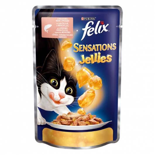 Фото корма Felix Sensations для котов GiJ с лососем и треской, 100 г.