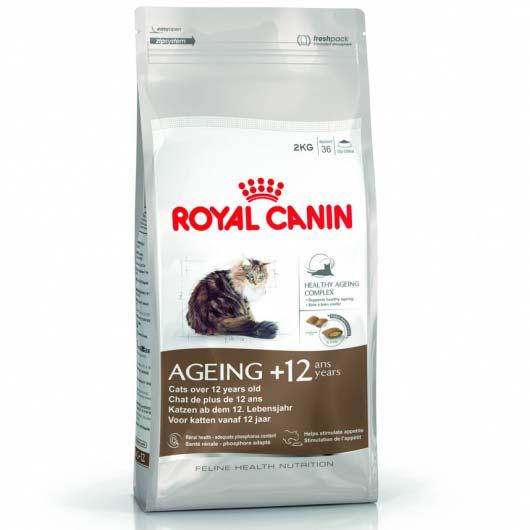 Фото корма для зрелых кошек Royal Canin AGEING+12 для поддержания здоровья