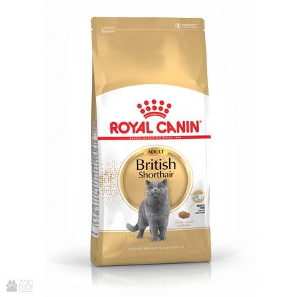 Упаковка корма для врозлых кошек Royal Canin BRITISH SHORTHAIR для британцев