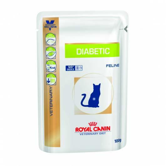 Фото корма для страдающих сахарным диабетом кошек Royal Canin DIABETIC влажный