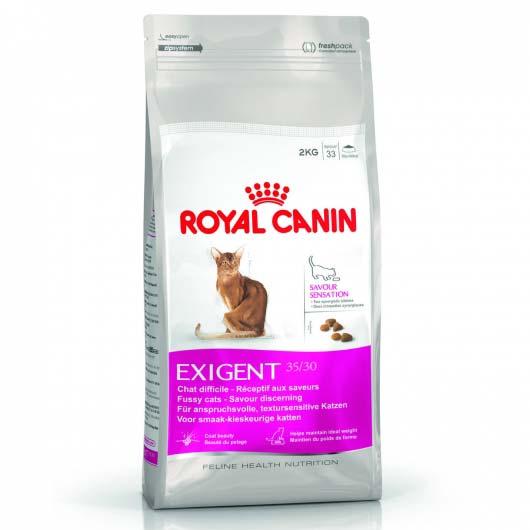 Фото старой упаковки корма для привередливых кошек Royal Canin EXIGENT SAVOUR
