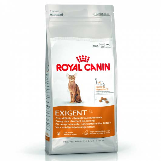 Фото корма для кошек Royal Canin EXIGENT PROTEIN, привередливых к составу (старая пачка до 2018 года)