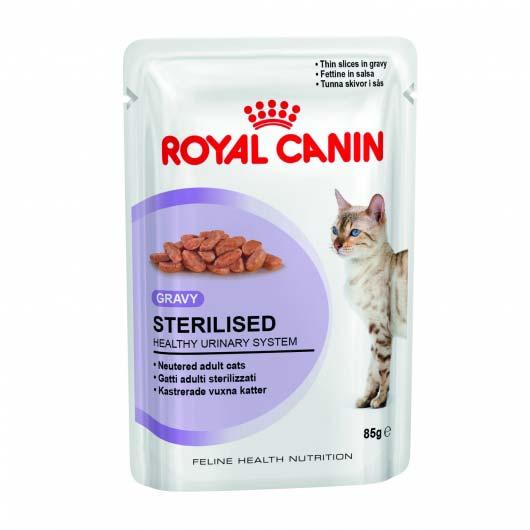 Фото корма для стерилизованных кошек Royal Canin STERILISED в соусе