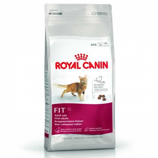 Фото корма для кошек Royal Canin FIT старше 1 года, с доступом на улицу (старая упаковка до 2018 года)