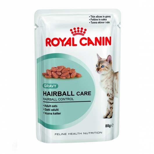 Фото корма для кошек Royal Canin HAIRBALL CARE для выведения шерсти (образец до 2018 года)