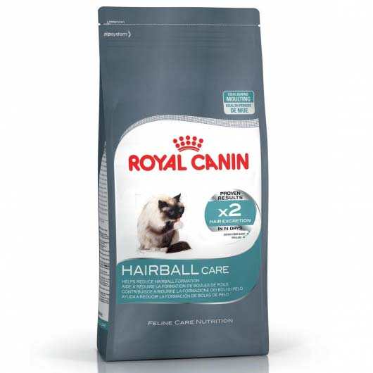 Фото корма для кошек Royal Canin HAIRBALL CARE для выведения шерсти (старый дизайн до 2018 года)