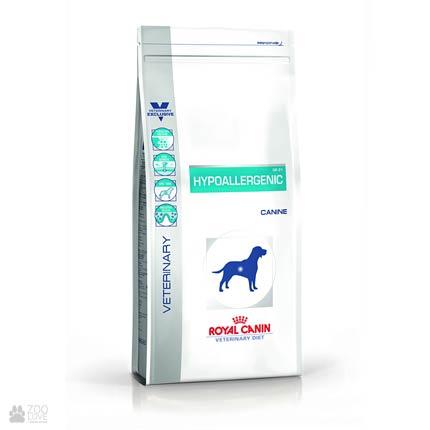 Фото корма для собак Royal Canin HYPOALLERGENIC при пищевой аллергии
