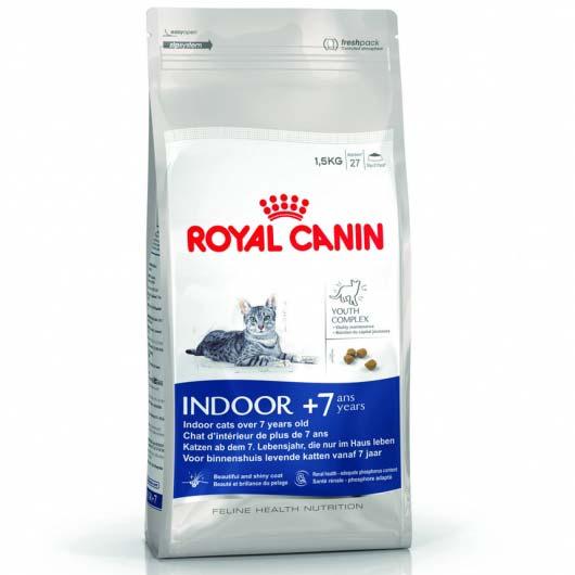 Royal Canin Indoor 7+ 1,5 кг, корм для пожилых кошек, живущих в помещении