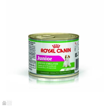 Фото корма для щенков Royal Canin JUNIOR консервированный
