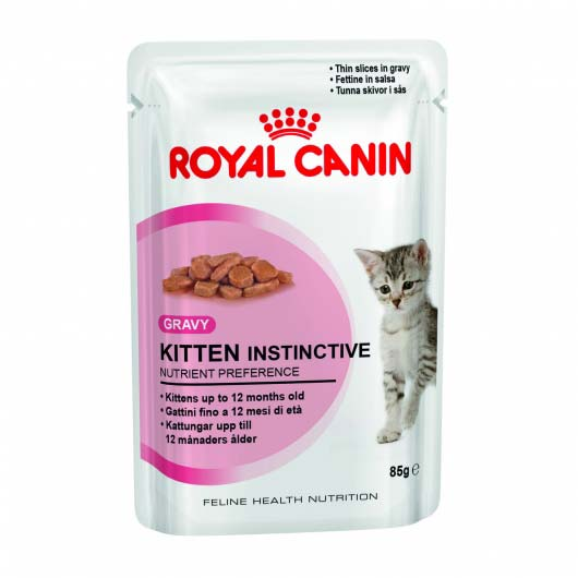 Фото корма для котят Royal Canin KITTEN INSTINCTIVE в соусе