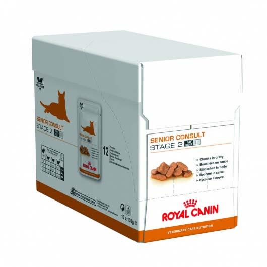 Корм для кошек старше 12 лет Royal Canin SENIOR CONSULT STAGE 2 (упаковка 12 паучей)