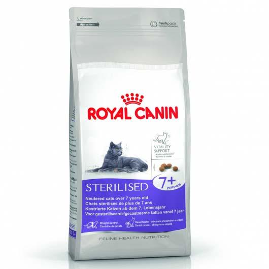 Фото корма для стерилизованных кошек Royal Canin STERILISED 7+ старше 7 лет