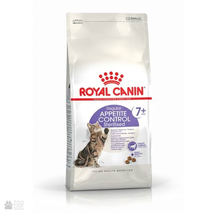 Фото корма для кошек Royal Canin Sterilised Appetite Control 7+ старше 7 лет