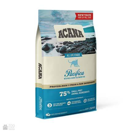 корм для кошек всех пород и возрастов Acana Regionals Pacifica Cat, упаковка, дизайн с 2021 года