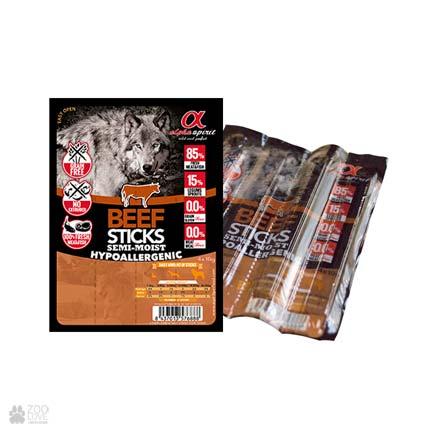 Alpha Spirit Sticks Beef, корм-лакомство для собак, палочки с говядиной, 4 штуки