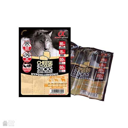 Alpha Spirit Sticks Cheese&Yogurt, корм-лакомство для собак, палочки с йогуртом и сыром, 4 штуки