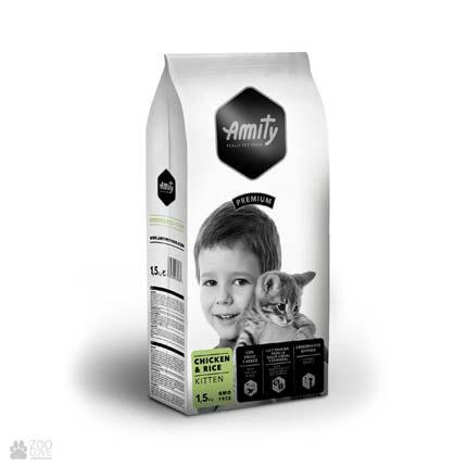 Сухой корм для котят Amity Kitten Chicken & Rice