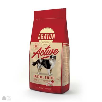 корм для собак всех пород, с курицей Araton Active Adult All Breeds Chicken