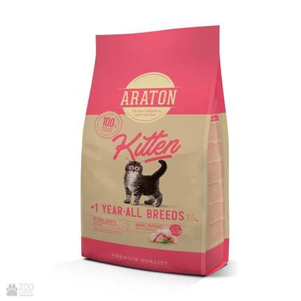 корм для котят Araton Kitten All Breeds с курицей