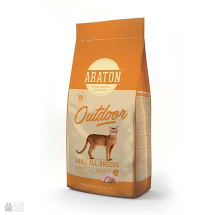 корм для кошек Araton Outdoor Adult All Breeds с курицей
