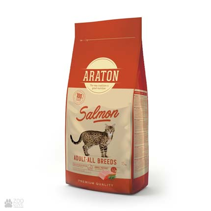 корм для кошек Araton Salmon Adult All Breeds с лососем