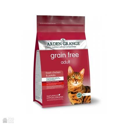 корм для кошек с курицей и картофелем Arden Grange Adult Cat Fresh Chicken & Potato