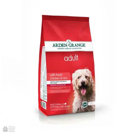 корм для собак с курицей и рисом Arden Grange Adult Dog Fresh Chicken & Rice