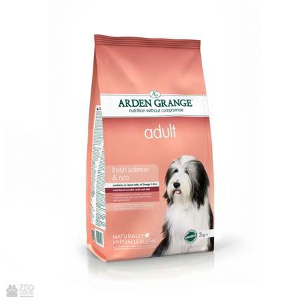 корм для собак с лососем и рисом Arden Grange Adult Dog Fresh Salmon & Rice