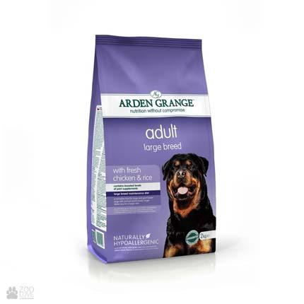 корм для собак крупных пород с курицей и рисом Arden Grange Adult Dog Large Breed Fresh Chicken & Rice