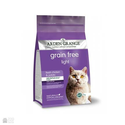 облегченный корм для кошек с курицей и картофелем Arden Grange Cat Adult Light Fresh Chicken & Potato