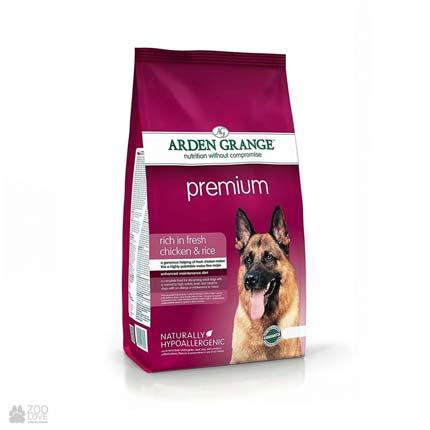 корм для собак с курицей и рисом Arden Grange Adult Premium Dog Fresh Chicken & Rice