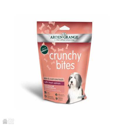 лакомство для собак и щенков с курицей Arden Grange Crunchy Bites Skin / Coat Salmon