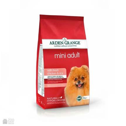 корм для собак малых пород с курицей и рисом Arden Grange Mini Adult Dog Fresh Chicken & Rice