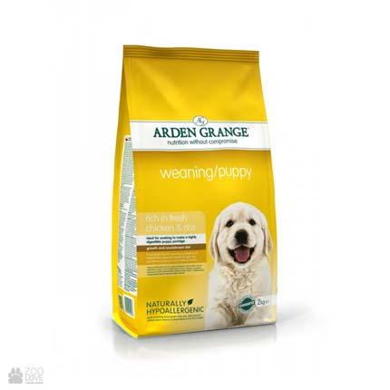 корм для щенков с курицей и рисом Arden Grange Puppy / Junior Fresh Chicken & Rice