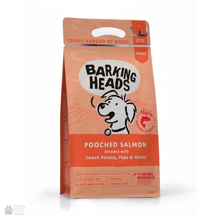 корм для собак с лососем и картофелем Barking Heads Pooched Salmon