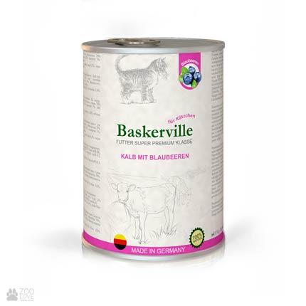 Baskerville Super Premium Kalb Mit Brlaubeeren консервы для котят Баскервиль, телятина с черникой