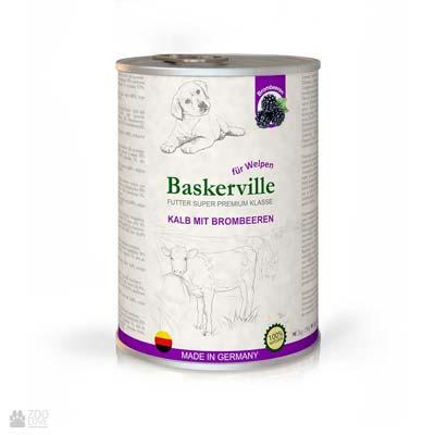 консервы Baskerville для щенков с телятиной и ежевикой