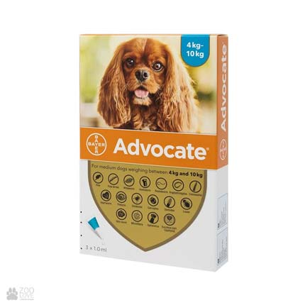 Байер Адвокат для собак 4-10 кг 1 уп. (инсектоакарицид,антигельминтик)
