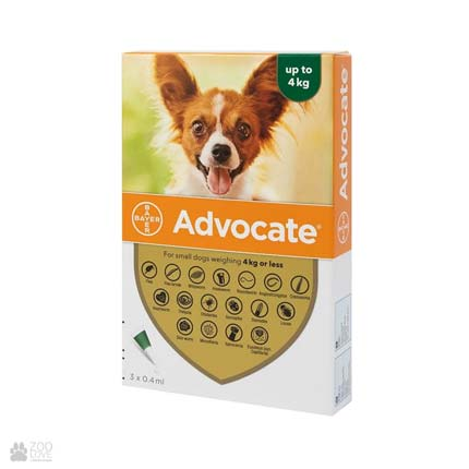 инсектоакарицид, антигельминтик для собак Байер Адвокат для собак до 4 кг
