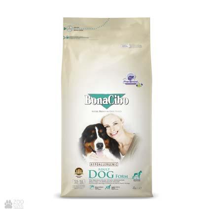 корм для собак с лишним весом и стареющих собак BonaCibo Adult Dog Form