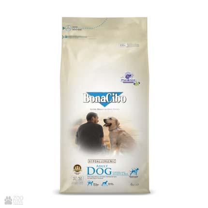 корм для собак с курицей и рисом BonaCibo Adult Dog