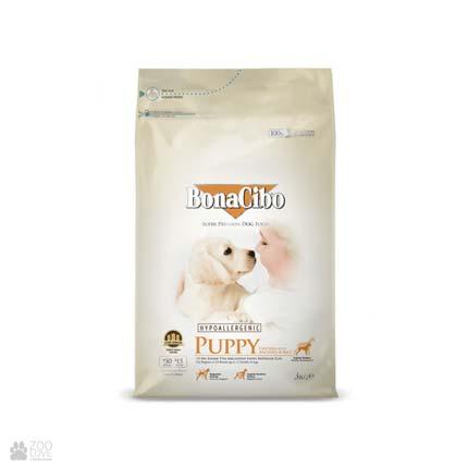 корм для щенков с курицей и рисом BonaCibo Puppy Chicken & Rice