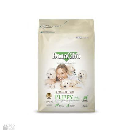 корм для щенков с ягненком и рисом BonaCibo Puppy Lamb & Rice
