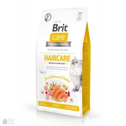 Brit Care Cat Grain Free Haircare Healthy & Shiny Coat, беззерновой корм для с кошек для ухода за шерстью