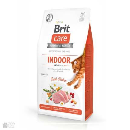 Brit Care Cat Grain Free Indoor Anti-Stress, беззерновой корм для с кошек